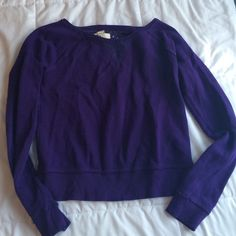 Juniors purple sweatshirt Dark eggplant color, with floral lace on the back and on the front triangle SO Tops Sweatshirts & Hoodies
