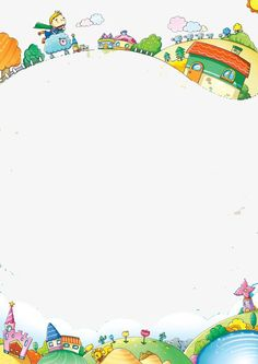 Cartoon fairy tale fantasy frame PNG and Clipart Boarder Designs, Page Borders Design, Kids Background, Cartoon Background, Art Drawings For Kids, Drawing For Kids, Boarders And Frames, Crafts For Kids, Arts And Crafts