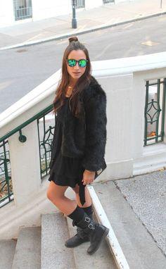 Black Faux Fur - Fashion & Lifestyle Blog from V I E N N A