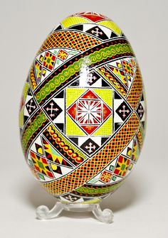Ukrainian handpainted eggs.  Saw these once in a National Geographic article when I was a little girl.  Still love them.