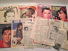 Elvis Presley Magazine Lot of 30+ Collection Vintage Newspapers