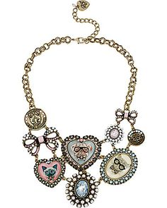 This is too precious!! CAMEO CRITTERS MULTI FRONTAL NECKLACE MULTI #Betseyjohnson #betseyeverything
