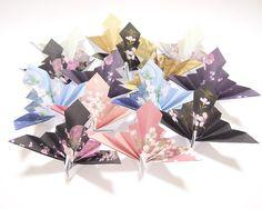 Origami Kimono Paper Peacock 14 Origami Paper by KaoriCraft