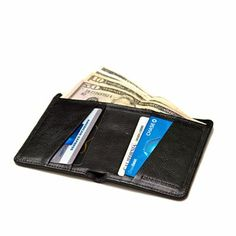 Perfect classic black leather wallet for him.