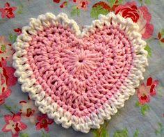 Happy Heart Day - Free Crochet Heart Coaster Tutorial