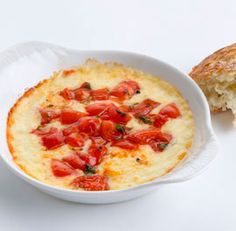 Baked Provolone with Tomatoes, Marjoram, and Balsamic
