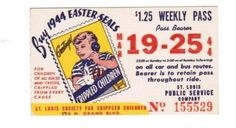 Weekly pass from Saint Louis (Missouri) Public Service Company (1944)
