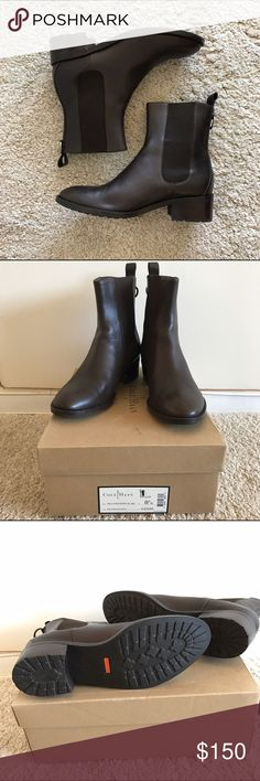 Cole Haan x Nike Air Evan Chelsea boots Brand new, never worn Coke Haan x NikeAir Evan Chelsea boots. Dark chocolate, water resistant with rubber sole. Cole Haan Shoes Ankle Boots & Booties