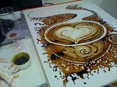 Obras realizadas en cafe por Dirceu Veiga