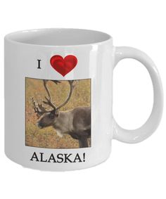 Give a piece of Alaska with I Love Alaska mugs. All mugs come in two sizes: 11 ounces and 15 ounces. The beautiful designs are featured on both sides of the mug for both left-handers and right-handers. All mugs are dishwasher and microwave safe. You can filter by the following categories using the Browse function abov