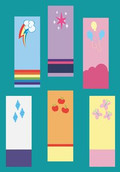 My Little Pony Friendship is Magic Bookmarks - Love these!  I want them all! For every pony in Equestria!