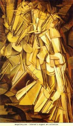 M. Duchamp. my absolute favorite piece. Nude descending a stair case