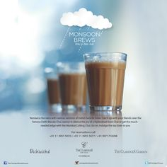 Something about the monsoon makes us hungry and self-indulgent. Why fight it? Just dig into the perfect snacks and chai at The Claridges