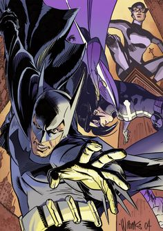 Batmam, Huntress and Catwoman by David Williams and Adam Metcalfe