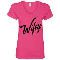 Wifey - Ladies' V-Neck Tee