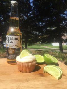 Corona cupcakes with Lime Icing!