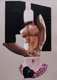 #collage =cream top = alexandre santacruz art