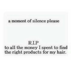 RIP Money Spent Natural Hair Products