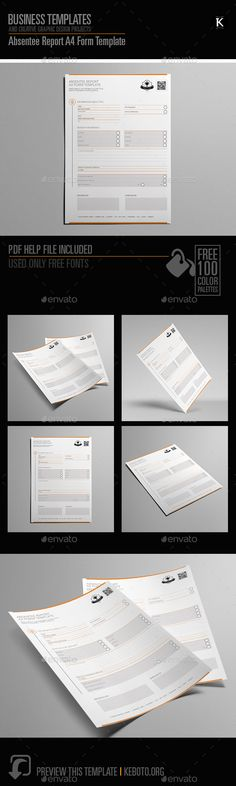 Requisition Form A4 Template Template, Adobe indesign and Print