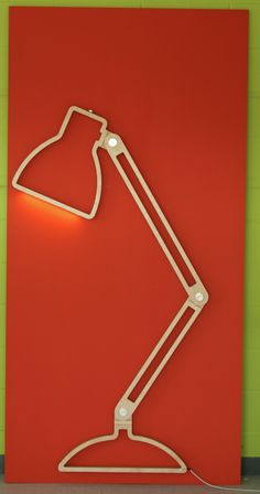 Nepa Lamp by Giles Godwin-Brown Nepa Lamp  This is a two-dimensional lamp silhouette that seamlessly transforms into a fully functioning three-dimensional task lamp.