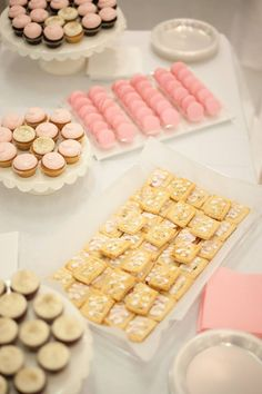 Blush & ivory desserts, mini pop tarts are the Best!