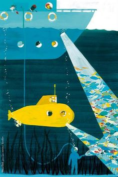 """We all live in a yellow submarine...for me, yellow submarine was a song I sang in kindergarten (1974)...shy child, yellow turtleneck, construction paper yellow sub, stage/""""crowd""""...I was there."""