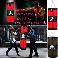 Factory Wholesale 60cm Training Fitness MMA Boxer Boxing Bag Hook Hanging American Fight Bag Sand Punch Punching Bag Sandbag