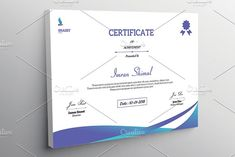 Certificate Template - V03 by Template Shop on @creativemarket