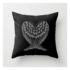 Heart Wings [reversed Version] Throw Pillow (35 BGN) ❤ liked on Polyvore