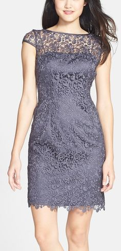 Gorgeous lace shift dress by Adrianna Papell