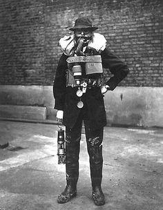 British sewer worker, 1950.