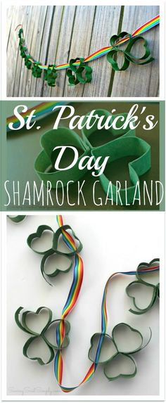 Spread a little luck on St. Patrick's Day with this DIY St. Patrick's Day Shamrock Garland!