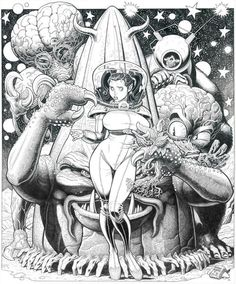Retro alien love by Arthur Adams.