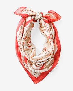 Floral Square Silk Scarf