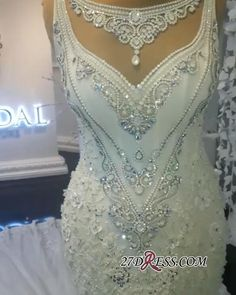 Stunning Sleeveless Crystal Wedding Dress 2019 Mermaid Bridal Gowns On Sale Item Code: Crystal Wedding Dresses, Pretty Wedding Dresses, Wedding Dresses For Sale, Bling Wedding, Dream Wedding, Fall Wedding, Bridal Gowns, Wedding Gowns, Homecoming Dresses