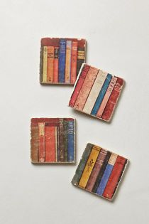"Botticino Marble ""Book"" Coasters"