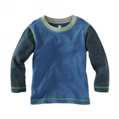 Tea Collection Fresh Finland Back to School Cool Colorblock Tee in Cobalt Blue
