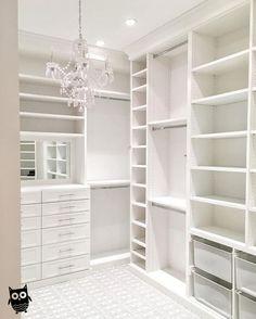 45 Brilliant Closet Organization Ideas - Page 2 of 45 - VimDecor closet designs; Master Closet Design, Walk In Closet Design, Master Bedroom Closet, Closet Designs, White Bedroom, Master Closet Layout, Bedroom Wall, Diy Bedroom, Bedroom Closets