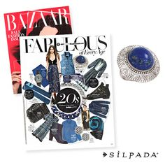 The editors at @harpersbazaar want you to go indigo this fall with our Peruvian Ring ($99)!
