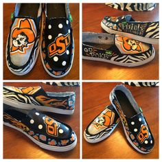 These custom-painted Sanuks are made to order with your favorite college or university in mind! Shoes are ordered for you (brand new,) painted