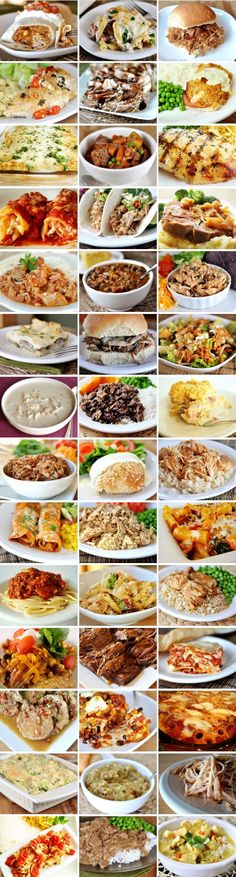 "40+ make ahead meals @ Mel's Kitchen Cafe---  ""All of these meals can be made ahead in some form or another – some are slow cooker meals, some can successfully be frozen and baked later, some can be assembled the night before or morning of and refrigerated until ready to bake."""