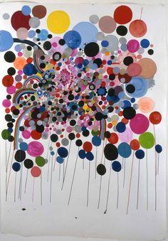 Nina Bovasso, splatterburst, 2005, acrylic & ink on paper, 78 x 84 inches via artist