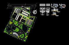 Implementation of ecological park (dwgAutocad drawing )