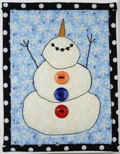 """""""Let It Snow!"""" quilted greeting card pattern that I will use for a wall hanging inspiration."""