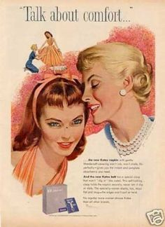 Kotex Ad Whitcomb Art (1957)