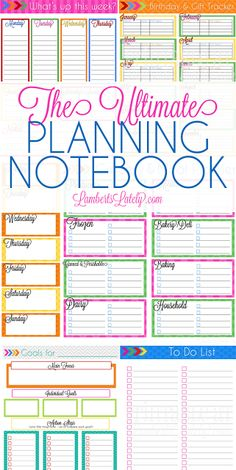 This weekly planner printable is awesome!  I love the bright colorful organization and the pretty fonts.