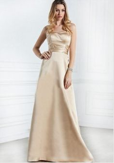 Classic formal gown in gold