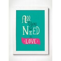 Poster All You Need is Love - Fundo Verde