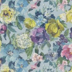Roseto by Designers Guild - Celadon - Wallpaper : Wallpaper Direct Designers Guild Wallpaper, Designer Wallpaper, Delft, Linen Wallpaper, Framed Wallpaper, Wallpaper Collection, Tricia Guild, Hydrangea Not Blooming, Romantic Roses