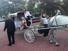 And no fairy tale wedding would be complete without a horse drawn carriage | Wild Dunes Resort Weddings | December 2014 | Charleston, SC Beach Weddings | #WildDunesWeddings